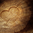 Stock Photo: Love text on wooden background