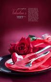 Romantische tisch-tageseinstellung valentin — Stockfoto