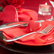 Valentine day romantic table setting — 图库照片