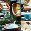 Spa collage in blue — Stock Photo