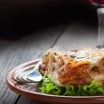 Fresh homemade lasagna — Stock Photo