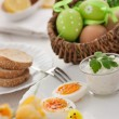 Traditional Easter breakfast — Stock Photo