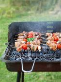 Spring barbecue — Stock Photo