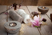 Natural spa setting — Stock Photo
