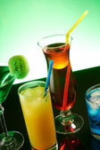Coloful cocktails — Stock Photo