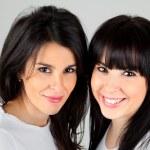 Two beautiful sexy young women — Stock Photo