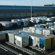 Stock Photo: Airport Cargo Containers