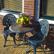 Iron Garden Furniture — Stock Photo