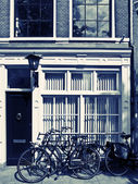 Bycicles in Amsterdam Streets — Stock Photo