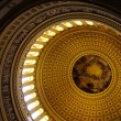 Interior dome of US Capitol, Washington DC — Stock Photo