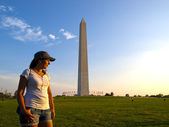 Tourist in Washington DC — Stock Photo