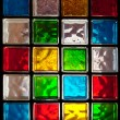 Decorative Glass Blocks in different colors — Stock Photo