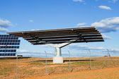 Solární panel struktura v elektrárně — Stock fotografie