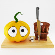 Funny pumpkin — Stock Photo