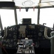 Stock Photo: Controls and equipment in cockpit of airplane