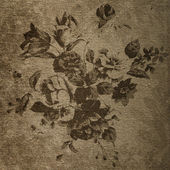 Decorative retro floral background — Stock Photo