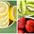 Collection of fresh fruits — Stock Photo