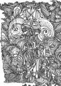 頭蓋骨ビンテージ スタイル — ストックベクタ