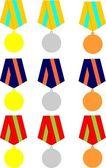 коллекции медалей — Cтоковый вектор