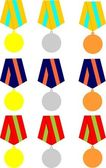 Collection of medals — Stok Vektör