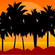 Southern palm trees — Stock Vector