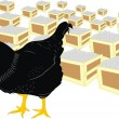 Vector de stock : Hen and eggs