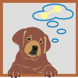 Dreaming puppy — Stock Vector