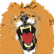 The big lion — Imagen vectorial