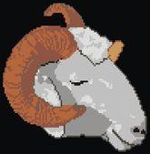 White ram — Stock Vector
