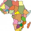 Map of Africa - Image vectorielle