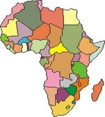 Map of Africa — Vetorial Stock