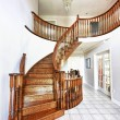 Entrance hall with staircase - Stock Photo