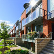 Stock Photo: Modern townhouses