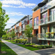Modern town houses - Stock Photo