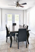 Interior with dining table — Stock Photo