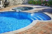 Swimming pool with hot tub — Foto de Stock
