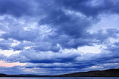 Cloudy dramatic sky — Stock Photo