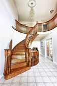 Entrance hall with staircase — Stock Photo