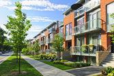 Moderne case di città — Foto Stock