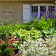 Residential garden landscaping - Stock Photo