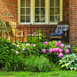 Stock Photo: Garden in front of house