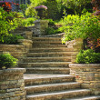 Foto Stock: Stone stairs landscaping