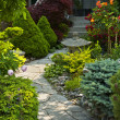 Garden path with stone landscaping — Stock Photo #8943860