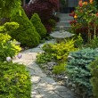 Foto de Stock  : Garden path with stone landscaping