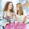 Women toasting with white wine — Stock Photo #8943978
