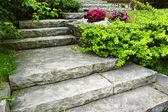 Escaleras de piedra paisajismo — Foto de Stock
