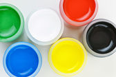 Paint of different colors — Stock Photo