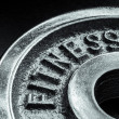 Fitness text close up — Stock Photo