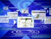 Internet ranking — Stock Photo