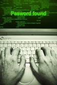 Password theft — Stock Photo